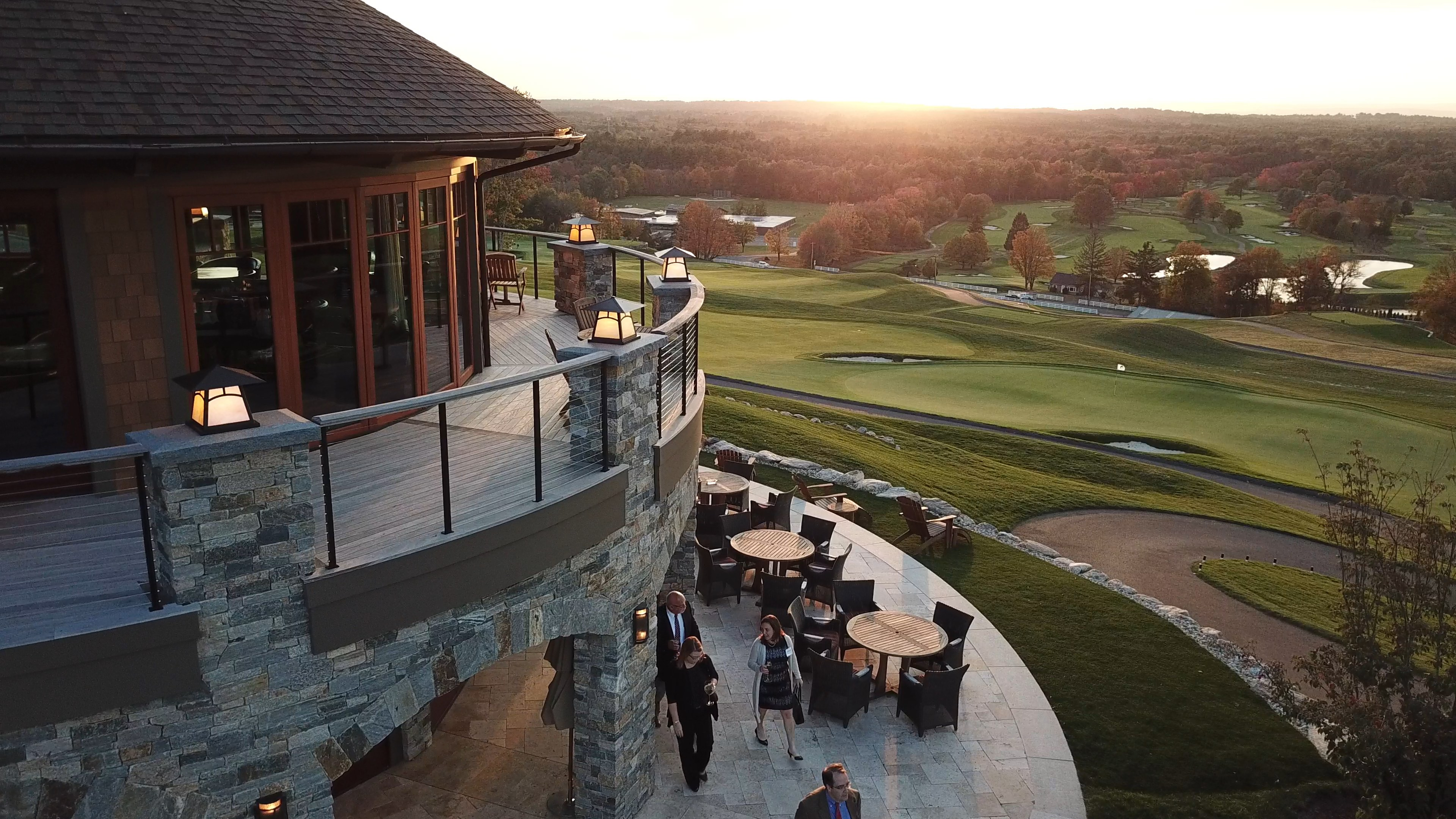CLUBHOUSE RAILING SUNSET PEOPLE SMALL