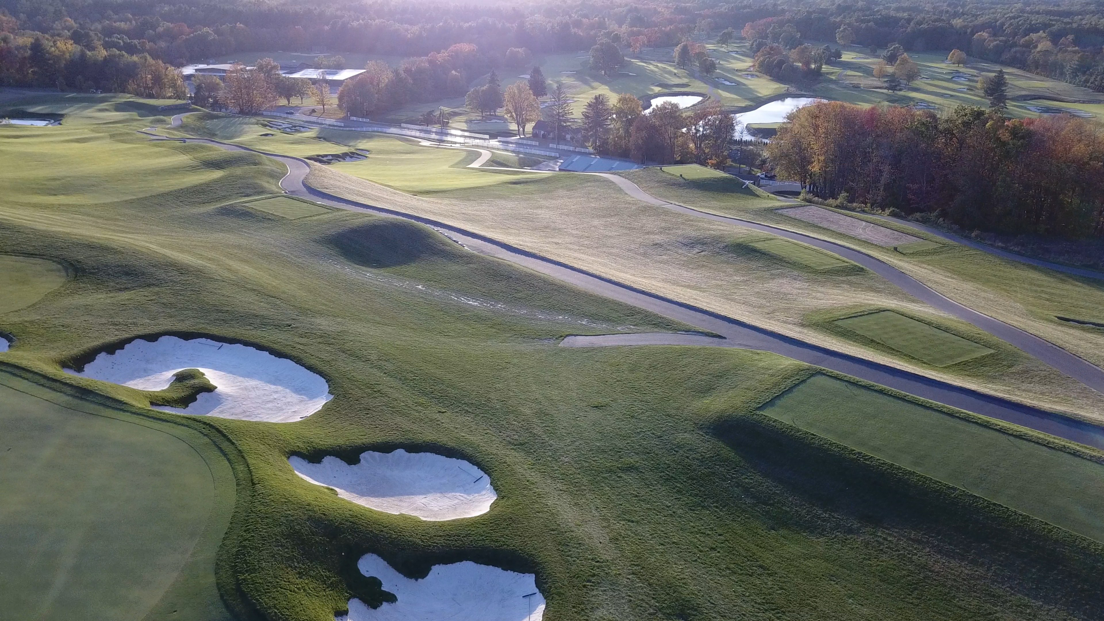 FAIRWAY, BUNKERS, SUNSET SMALL